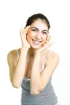 Free Happy Surprised Girl Royalty Free Stock Photo - 9378825