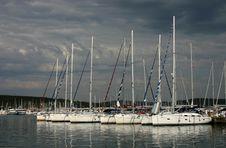 The Yacht Marina Stock Photo