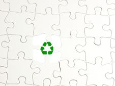 Free Puzzle Recycle1 Royalty Free Stock Images - 9379029