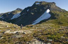 Free Alpine Ridge Hiker Stock Photos - 9379343