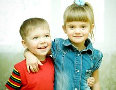 Free Two Siblings Stock Photography - 9379372