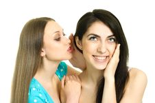 Free Two Gossiping Girls Royalty Free Stock Photography - 9379547