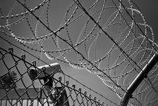 Free Razor Wire Fence And CCTV Camera Stock Photo - 93731950