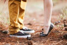 Free Black Argyle Flat Shoes Royalty Free Stock Image - 93731986