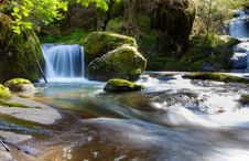 Free Waterfall In Forest Stream Stock Photos - 93732103