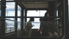 Free Passengers Standing By Train Windows Royalty Free Stock Photos - 93797828