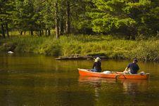 Free Couple Kayaking  Royalty Free Stock Photography - 93797967