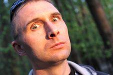 Free Frightened Man Stock Image - 9380051