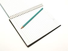 Free Spiral Notebook With Royalty Free Stock Photos - 9380428