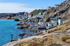 Free Coastal Village On Rocky Shore Royalty Free Stock Image - 9380436