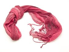 Red Scarf Yarn Royalty Free Stock Photography