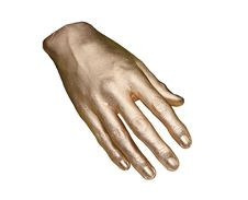 Free Gold Hand. Stock Photography - 9382352