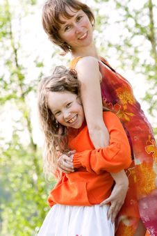 Free Mother And Daugther With Humor Royalty Free Stock Image - 9382436