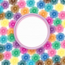 Flowers Background And Sample For Text Royalty Free Stock Photos