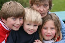 Free Happy Kids With Mother Stock Photography - 9383352