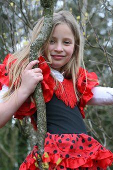 Free Nice Girl On The Tree Stock Photography - 9383602