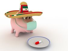 Swine Flu Royalty Free Stock Photography