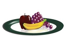 Free Plate Of Fruit Stock Image - 9384181