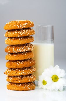Free Biscuits And Milk Royalty Free Stock Photography - 9384247