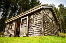 Log Cabin In Woods Stock Images