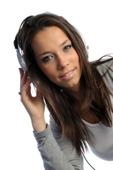 Free Girl With Headphones Royalty Free Stock Photo - 9384995