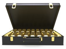Free Case With Gold Stock Photos - 9385043