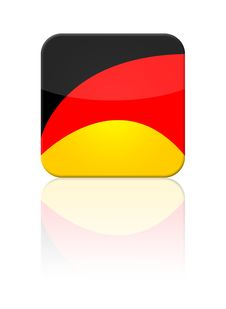 Free Germany Flag Button Royalty Free Stock Photo - 9385715