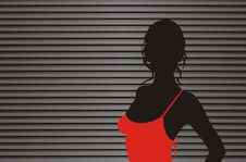 Free Silhouette 2 Stock Image - 9385731