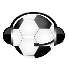 Football Headphones Royalty Free Stock Images