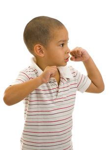 Free Boy Posing As A Boxer Stock Photos - 9386753