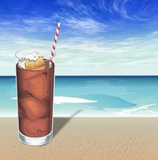 Free Soft Drink With Ice Royalty Free Stock Image - 9387546