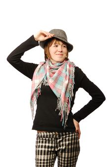 Free Young Woman With A Scarf Royalty Free Stock Photo - 9388955