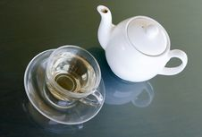 Free White Tea In Transparent Cup Royalty Free Stock Photos - 9388968