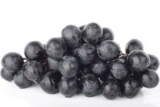 Free Grapes Closeup Over White Royalty Free Stock Images - 9389319