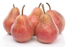 Free Pears Over White Abckground Stock Photography - 9389322