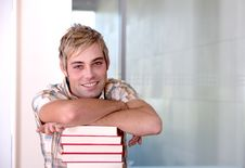 Free Portrait Of Male Student Royalty Free Stock Images - 9389539