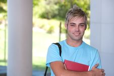 Free Portrait Of Male Student Stock Images - 9389784