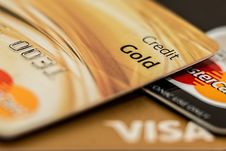 Free Master Card Visa Credit Card Gold Stock Image - 93866521