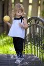 Free Little Girl On Bridge Royalty Free Stock Photo - 9391495