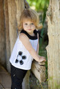 Free Little Girl By Barn Stock Photo - 9391660