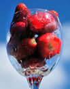 Free Strawberry In Glass Royalty Free Stock Images - 9393739