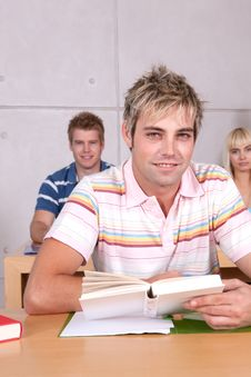 Free Portrait Of Male Student Stock Photos - 9390013