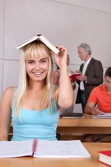 Free Portrait Of Female Student Stock Photography - 9390092