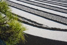 Free Raked Gravel In A Zen Garden, Kyoto Stock Image - 9390131