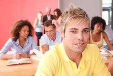 Free Portrait Of Male Student Stock Image - 9390261