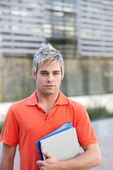 Free Male Student Stock Image - 9390361