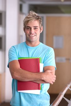 Free Male Student Portrait Stock Images - 9390634