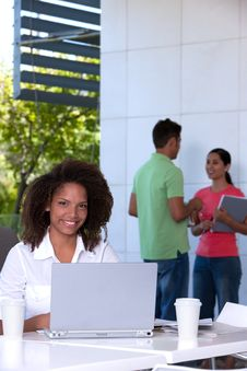 Portrait Of Female Student Royalty Free Stock Image