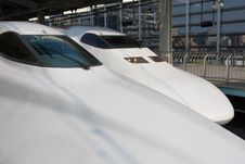 Free Two Shinkansen In Kyoto Station Royalty Free Stock Photography - 9390737