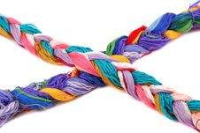 Free Plait Of Colour Royalty Free Stock Photography - 9390777